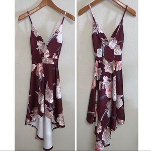Windsor Dresses - *Nwt* Maroon Floral Windsor Dress